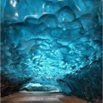Ice Cave Glows