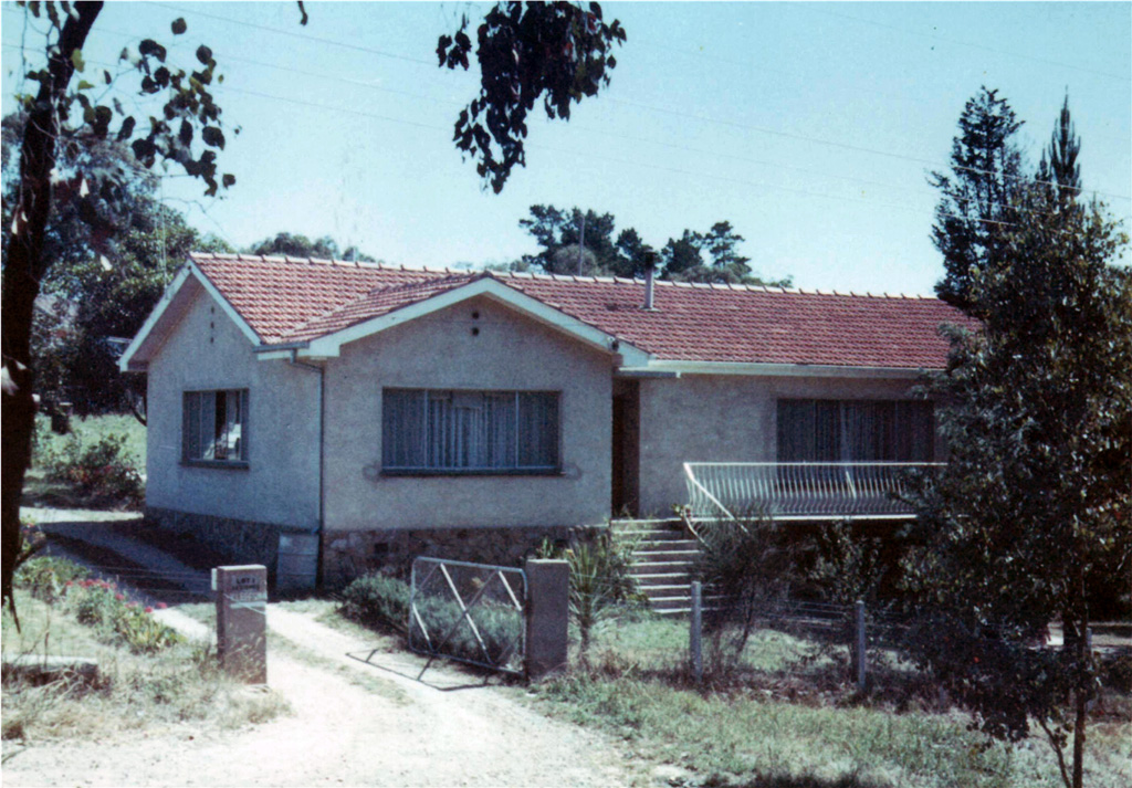 My childhood home in 1970