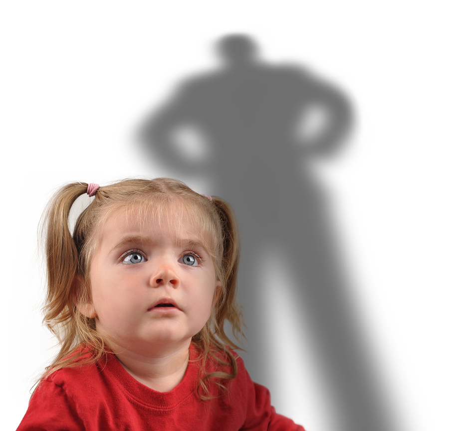Little Girl And Scary Shadow