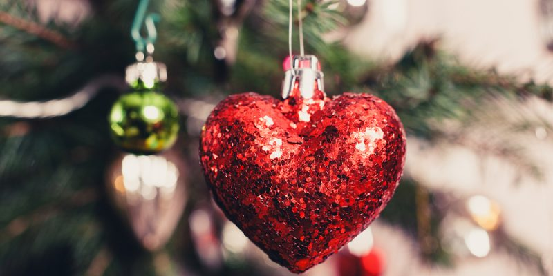 Decorative Heart On Christmas Tree